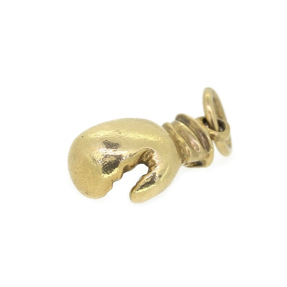 Vintage Boxing Glove Charm In 9ct Yellow Gold
