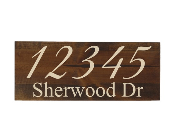 Engraved House Numbers Address Plaque Walnut Custom Rustic Housewarming Gift Personalized New Home Wood Signs Carved Wooden House Decor By Woodbott Catch My Party