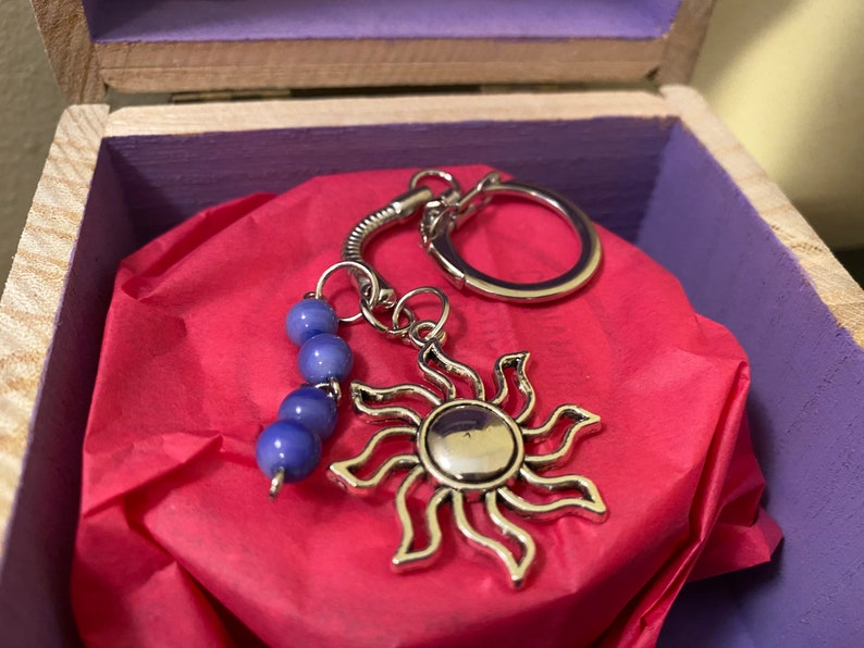 Sun and Moon Bead Keychain