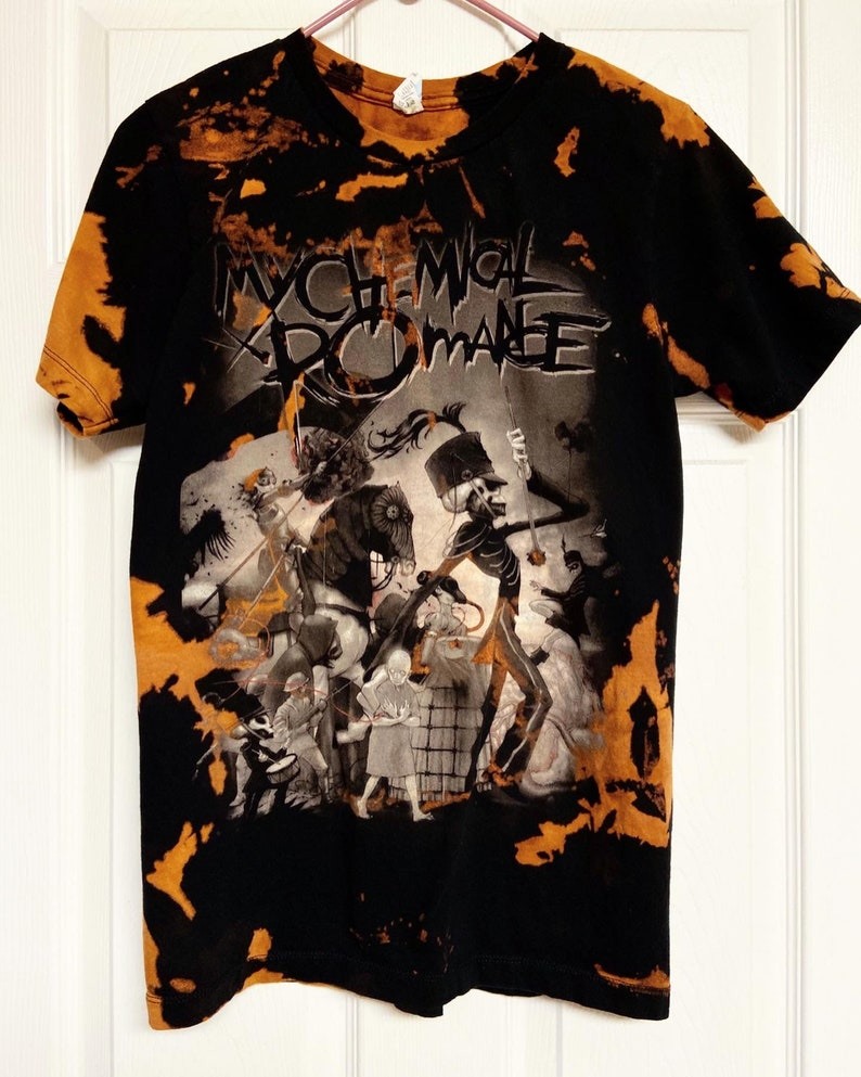 MCR tee My Chemical Romance Black Parade Bleach Dyed Tie Dye Tee