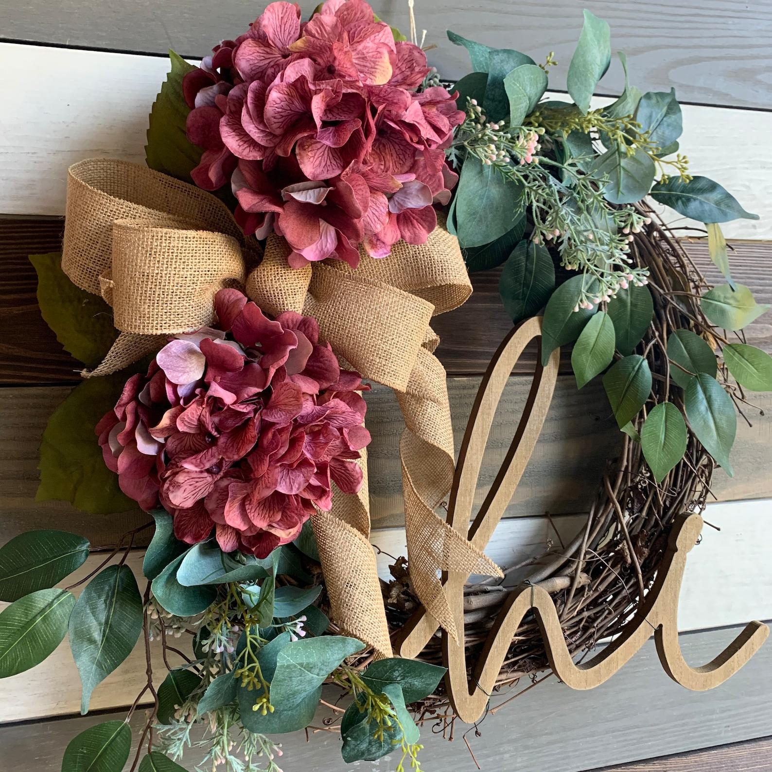 Fall Hello Hydrangea Grapevine Wreaths