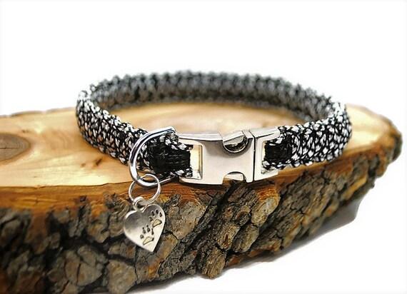 Silver Diamond dog collar - width 1.5cm - Wouf leash