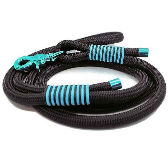 Wouf leash - Turquoise 10mm paracord leash