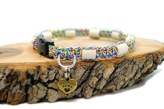 EM Ceramic Tick Collar for Natural Dog Protection - Rainbow Wouf Leash