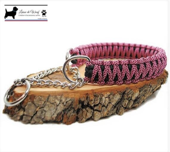 Pink Diamond dog collar - width 3cm - Wouf leash