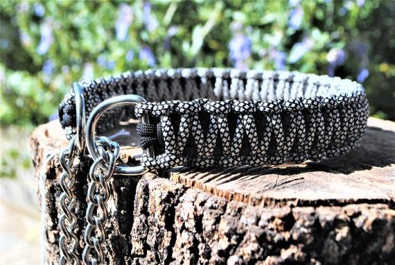 Silver Diamond dog collar - width 3cm - Wouf leash