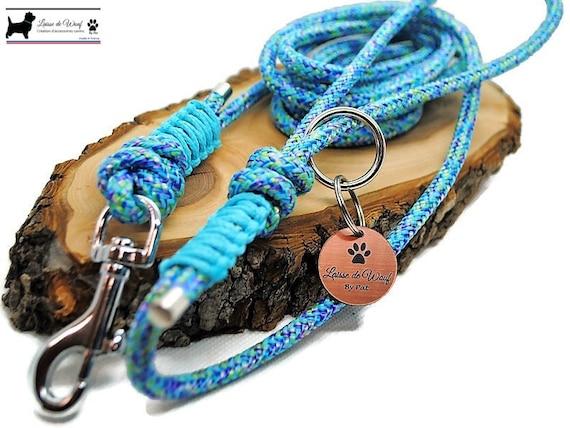 Wouf leash - Blue Mermaid lar perk for dog - 2 to 10m diameter 6mm