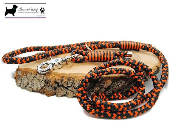 Black wouf leash leaves for dog rope 12mm