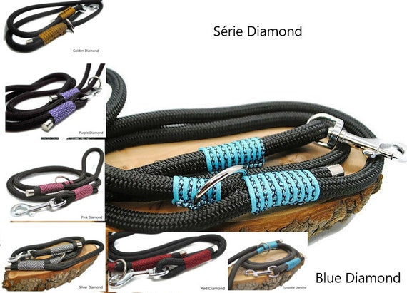 Wouf Leash - Diamond Collection Leash in paracord 10mm