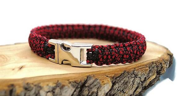 Red Diamond dog collar - width 1.5cm - Wouf leash