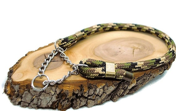 Camouflage dog collar - Paracord 10mm - Wouf leash