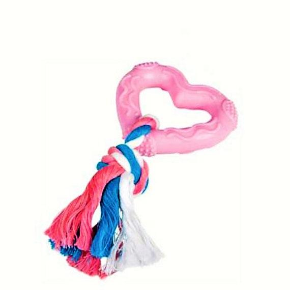 Jouet chien/chiot, Coeur rose  15cm