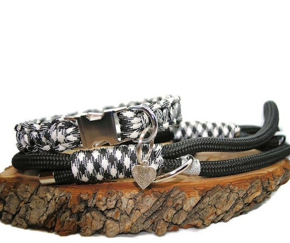 Scottish dog collar White - width 2cm - Wouf leash