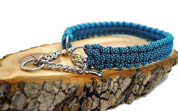 Blue Diamond dog collar - width 2cm - Wouf leash