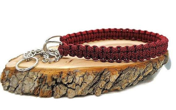 Red Diamond dog collar - width 2cm - Wouf leash