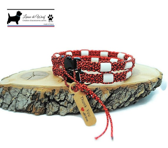 EM natural protection ceramic tick collar for dogs - Wouf Leash Neon Collection