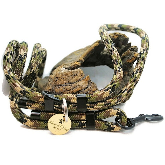 Wouf leash - Camouflage leash in paracord 10mm