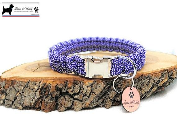 Purple Diamond dog collar - width 2cm - Wouf leash