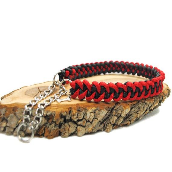 Dog Collar Shark Red - width 2cm - Wouf leash