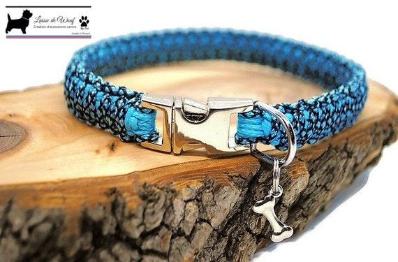Blue Diamond dog collar - width 1.5cm - Wouf leash