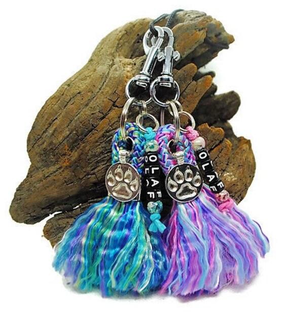 Key ring Mermaid Pink or Mermaid Blue