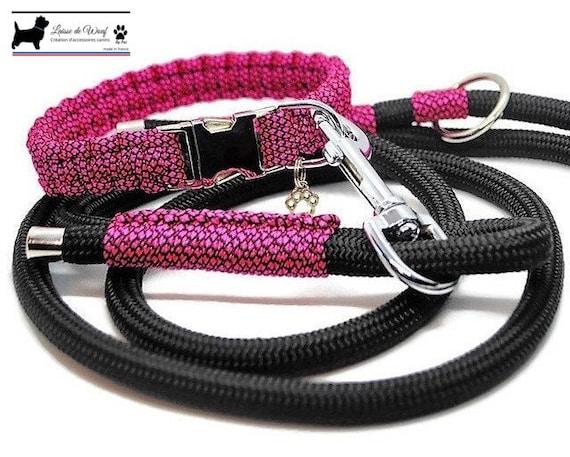 Collar dog Neon Pink - width 2cm - Leash of wouf