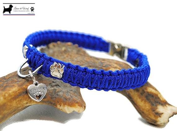 Collar dog Paw - width 1.5cm - Leash of wouf