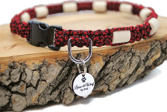 Ceramic tick collar EM natural protection for dog- wouf leash Diamond Collection