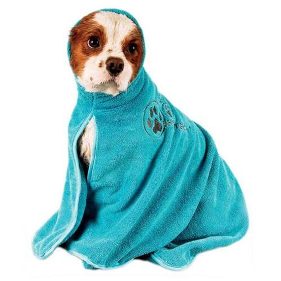 Peignoir Dry Dude Bleu en microfibre