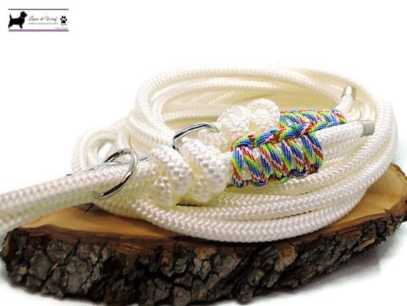 Wouf leash - Tie and dye lar perk - 2m to 10m diameter 8mm