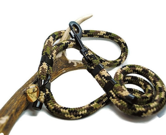 Wouf Leash - Camouflage leash in paracord 12mm