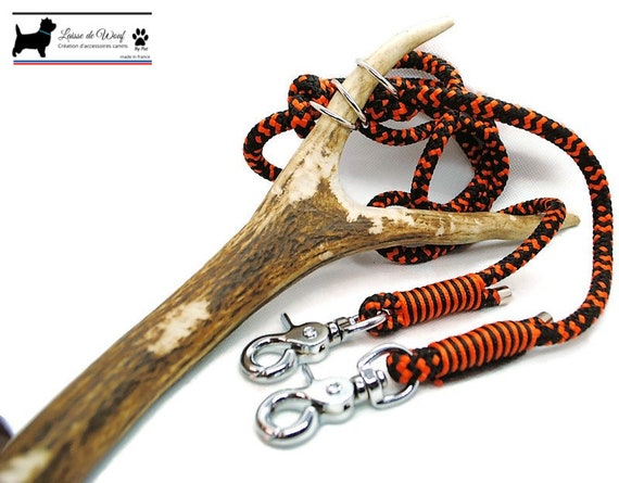 Leash of wouf - Leaves 3 points Hallo in paracord 8mm or 10mm