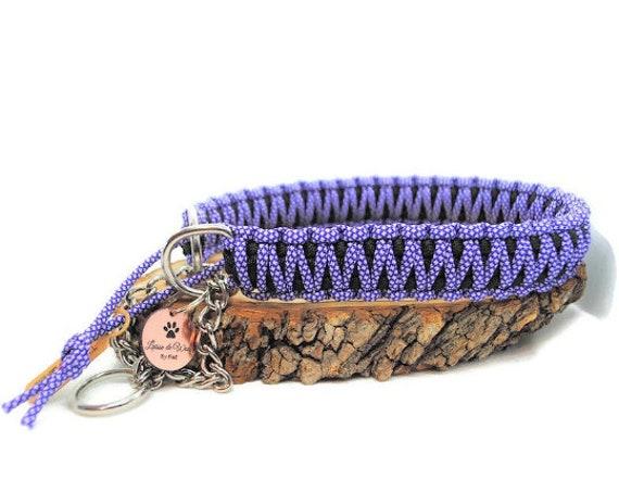 Purple Diamond dog collar - width 3cm - Wouf leash