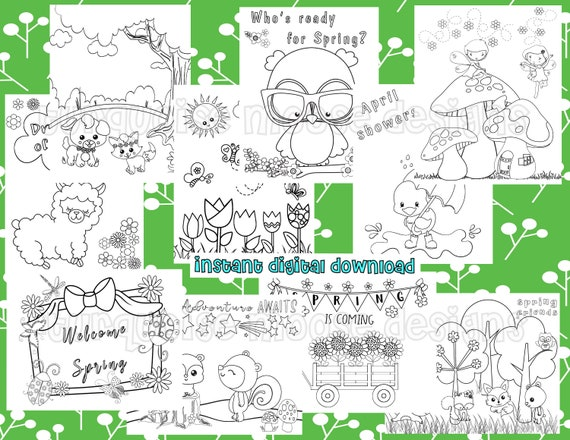 Spring Coloring Pages  for Kids  Printable Pages to Color