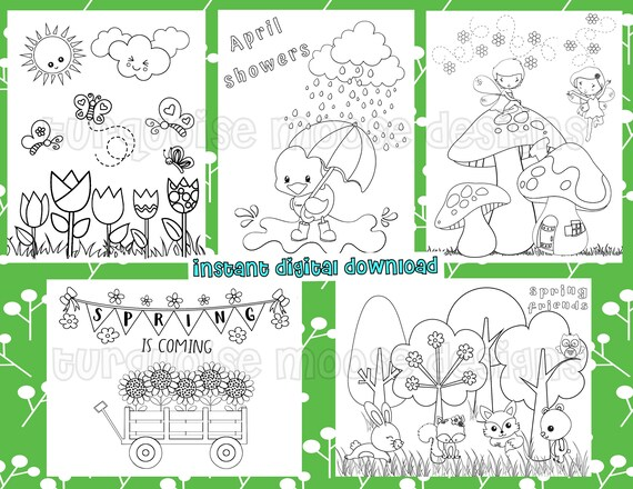 Spring Coloring Pages  Printable Pages to Color Digital