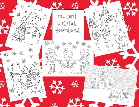 Snowman and Friends Coloring Pages for Kids  Printable