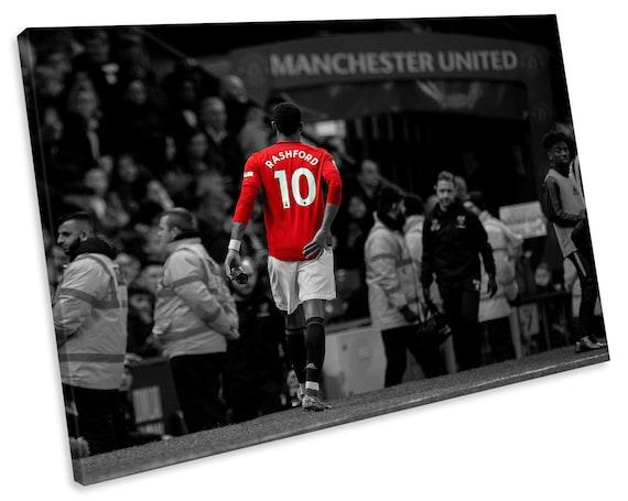 Manchester United Marcus Rashford Football Sports Canvas Wall Etsy
