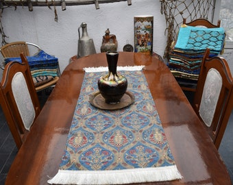 small size turkish table runner chenille fabric decorative table runner 17 inch x 42 inch bohemian decor colorful decorative table runners