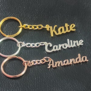 Mummy Personalised Name Tag Stamped Heart Rose Key Ring