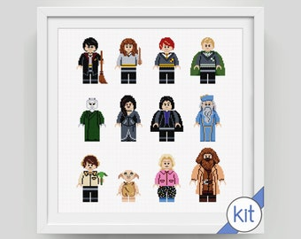 Cross Stitch Kit: Collection of Wizards, Witches and Friends Characters