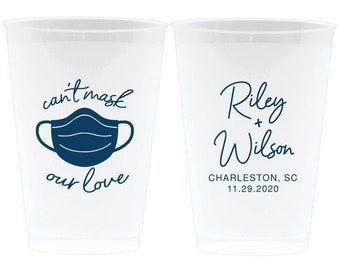 Frosted Cups North Carolina Wedding Southern Wedding Frost Flex Cups Destination Wedding Personalized Wedding Favors Personalized Cup