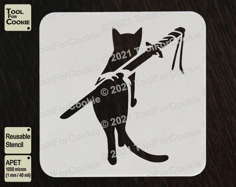 Any Design Stencils Any Font Custom Stencil Ninja Cat Stencil Cat Stencil