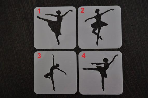 Ballet Stencil Custom Stencil Stencils Any Size Any Font Any Design Ballerina Stencil