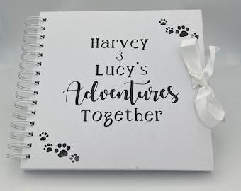 Dog scrapbook,puppy photo album,Dog Memory items,Pet Scrapbook,Dog Photo Album,Dog keepsake,dog bereavement Gift