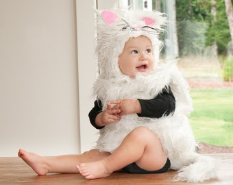 Baby Cat Costume Halloween Costume for Kids Sizes Baby Toddler Super Cute Baby Animal Pet Cat Costume | Halloween Delivery Guarantee