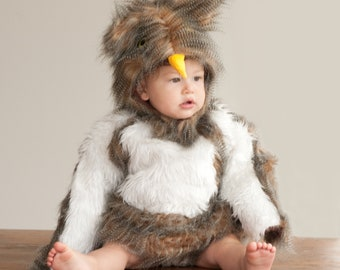 Baby Owl Costume Halloween Costume for Kids Sizes Baby to Toddler Super Cute Animal Baby Bird | Halloween Delivery Guarantee
