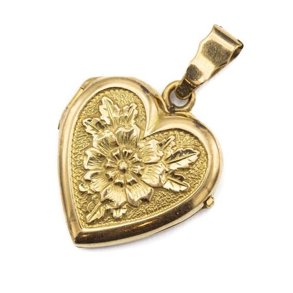Heart shaped locket - 18 ct yellow gold locket - i