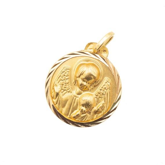 Angel charm - Cherub - 18k Gold pendant - charm -