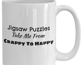 Jigsaw puzzle lovers coffee mug, coffee mug for puzzlers