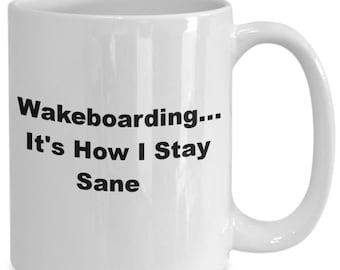 Wakeboarding coffee mug, coffee mug for wakeboarders